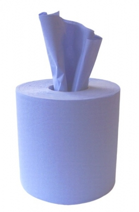 Blue Centre Feed Paper Rolls